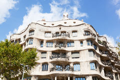 Casa Mila in Barcelona. Stock Photography