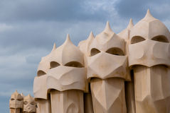 Casa Mila, Barcelona, Spain Royalty Free Stock Photography