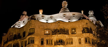 Casa Mila in Barcelona, Spain Royalty Free Stock Photography
