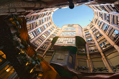 Casa Mila, Barcelona, spain. Stock Photography