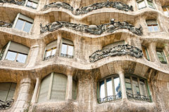 Casa Mila, barcelona, Spain. Royalty Free Stock Image