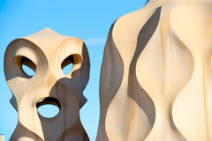 Casa Mila, barcelona, Spain. Stock Images