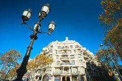 Casa Mila, Barcelona, spain. Stock Photos