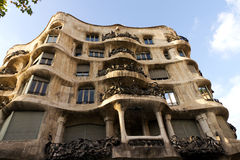Casa Mila in Barcelona, Spain Royalty Free Stock Images