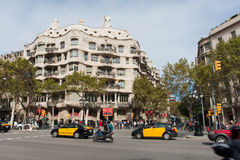 Casa Mila in Barcelona Stock Image