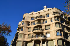 Casa Mila in Barcelona Royalty Free Stock Photos