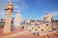 Casa Mila Royalty Free Stock Photo
