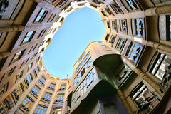 Casa Mila in Barcelona Spain Stock Image