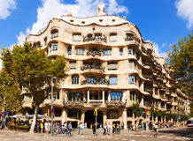 Casa Mila in Barcelona, Spain Royalty Free Stock Photo