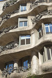 Casa Mila in Barcelona. Vertically. Royalty Free Stock Photography