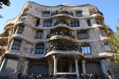 Casa Mila in Barselona Stock Photos