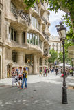 The Casa Mila, better known as La Pedrera, in Barcelona, Spain Stock Photo