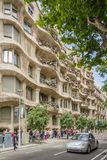 The Casa Mila, better known as La Pedrera, in Barcelona, Spain Stock Photography