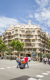 The Casa Mila, better known as La Pedrera, in Barcelona, Spain Stock Images