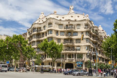 The Casa Mila, better known as La Pedrera, in Barcelona, Spain Royalty Free Stock Photos