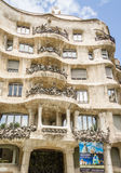 The Casa Mila, better known as La Pedrera, in Barcelona, Spain Royalty Free Stock Image