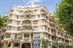 The Casa Mila, better known as La Pedrera, in Barcelona, Spain Royalty Free Stock Photography