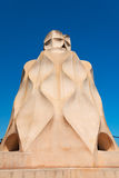 Casa Mila chimneys created by Gaudi Stock Photos