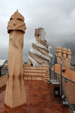Casa Mila chimneys Royalty Free Stock Photos