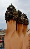 Casa Mila chimneys Stock Photography