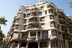 Casa Mila - Construction of Barcelona Stock Images