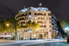 Casa Mila designed by Gaudi, Barcelona, Spain Royalty Free Stock Photos