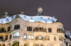 Casa Mila designed by Gaudi, Barcelona, Spain Royalty Free Stock Photo
