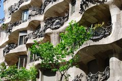 Casa Mila, details Royalty Free Stock Images