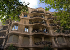 Casa Mila details facade Stock Photos