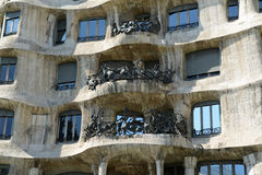 Casa Mila, Eixample District, Barcelona, Spain Stock Photo