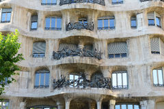 Casa Mila, Eixample District, Barcelona, Spain Stock Photography