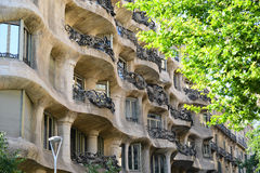 Casa Mila, Eixample District, Barcelona, Spain Stock Images
