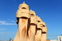 Casa Mila, Eixample District, Barcelona, Spain Stock Photos
