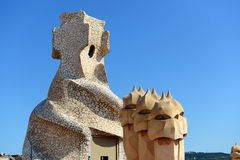 Casa Mila, Eixample District, Barcelona, Spain Royalty Free Stock Image
