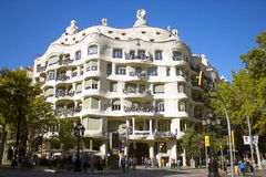 Casa Mila by Gaudi in Barcelona Royalty Free Stock Images