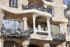Casa Mila by Gaudi, Barcelona Royalty Free Stock Image