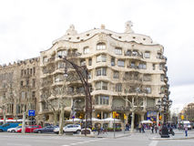 Casa Mila by Gaudi in Barcelona 05 Royalty Free Stock Photo