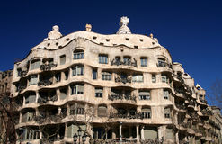 Casa Mila Gaudi House Royalty Free Stock Photography