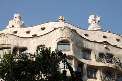 Casa Mila - Hotel Gaudi in Barcelona Royalty Free Stock Photography
