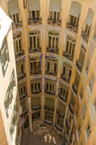 Casa Mila internal view from roof Stock Image
