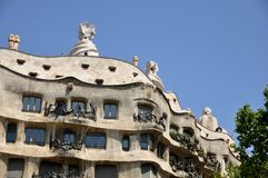 Casa Mila in L'Eixample, Barcelona Royalty Free Stock Images