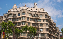 Casa Mila, or La Pedrera Royalty Free Stock Photos