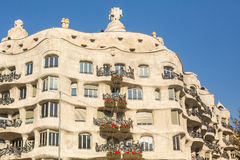 Casa Mila (La Pedrera) is apartment house, built in years 1906-1910 architect Antoni Gaud� for the Mila family Stock Images