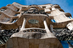 Casa Mila La Pedrera balconies at Barcelona Stock Photo
