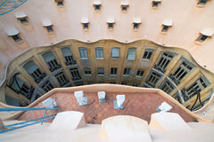 Casa Mila - La Pedrera in Barcelona Stock Photos