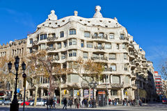 Casa Mila, or La Pedrera. Barcelona Spain Stock Photos