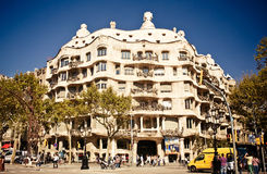 Casa Mila or La Pedrera in Barcelona, Spain Stock Photography