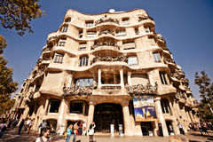 Casa Mila or La Pedrera in Barcelona, Spain Royalty Free Stock Image