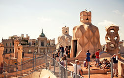 Casa Mila or La Pedrera in Barcelona, Spain Royalty Free Stock Photo