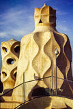 Casa Mila La Pedrera Barcelona Spain Royalty Free Stock Photos